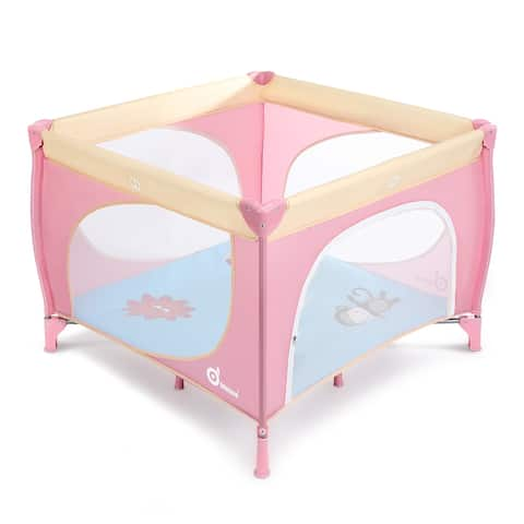 "Baby Joy Portable Playard Indoor and Outdoor 39inch x 39inch - 7'9"" x 10'10"""