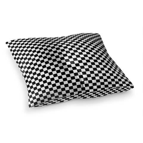 CHECKER BOARD BLACK & WHITE Floor Pillow by Kavka Designs