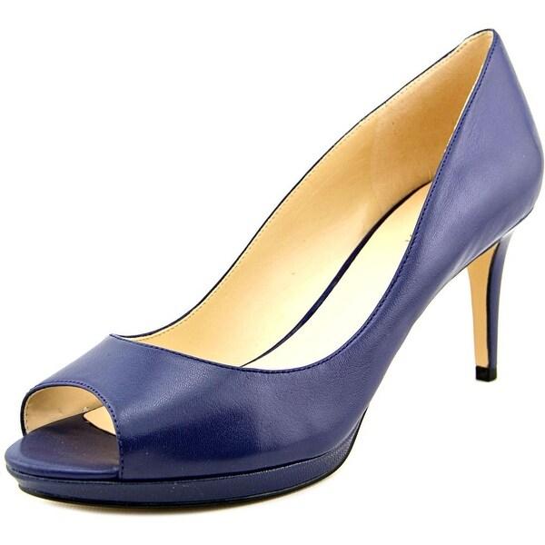 Nine West Gelabelle Women  Peep-Toe Leather  Heels