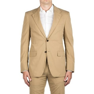 Prada Men's Cotton Polyester Blend Two-Button Suit Beige
