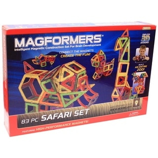 Magformers 3D 83 Piece Safari Build Set - Multi