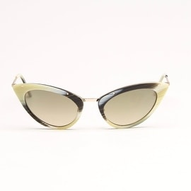 White and Black Marble Sunglasses With Grey Lens