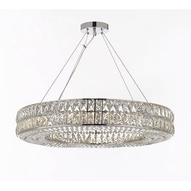 Crystal Spiridon Ring Chandelier Modern / Contemporary Lighting Pendant 16 Lights