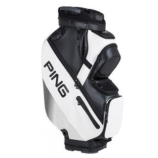 New Ping DLX Cart Bag (White / Black) - White / black