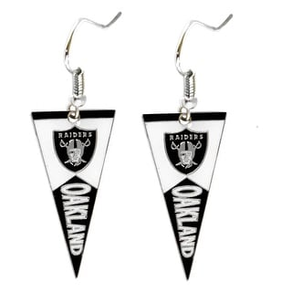 Oakland Raiders NFL Pennant Dangle Earring