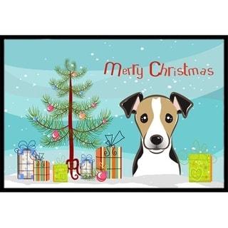 Carolines Treasures BB1633MAT Christmas Tree & Jack Russell Terrier Indoor or Outdoor Mat 18 x 27