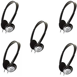 """Panasonic RPHT21 (5-Pack) Ligthtweight Headphones"""