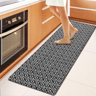 Kitchen Runner Rug/ Mat Cushioned Cotton Hand Woven Anti-Fatigue Mat Kitchen/Bathroom/Bed side 18x48'' - 18''x48''