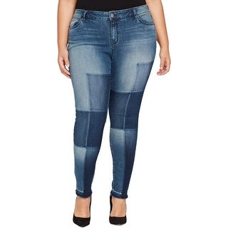 William Rast Womens Plus Skinny Jeans Denim Destroyed