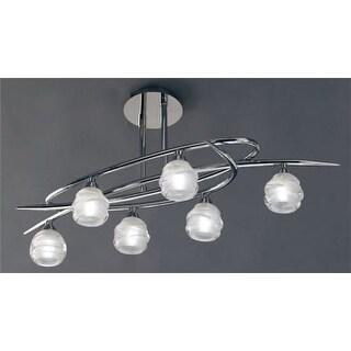 Mantra Lighting 1802 Loop 6 Light Semi-Flush Ceiling Fixture
