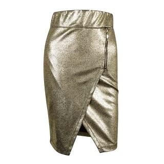 Marilyn Monroe Juniors' Metallic Pencil Skirt - GOLD - XS