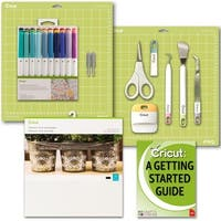 Cricut Starter Bundle, Beginner Guide, Basic Tool Kit, Sketch Pen Set, Replacement Blades, Permanent Vinyl Pack