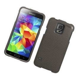 Insten Grey/ Black Carbon Fiber Hard Snap-on Rubberized Matte Case Cover For Samsung Galaxy S5