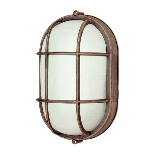 "Trans Globe Lighting PL-41015 6.5"" Width 1 Light Fluorescent Flush Mount Bulkhead Outdoor Wall Sconce"
