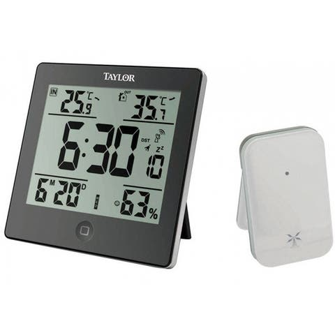 Taylor 1731 Digital Weather Forecaster With Alarm Clock, Black
