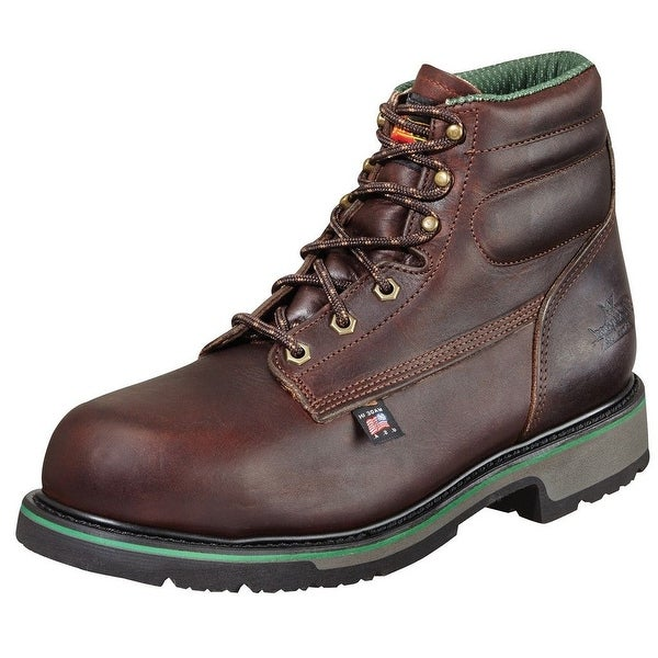 "Thorogood Work Boots Mens 6"" Sport SD Type ST Black Walnut 804-4711"