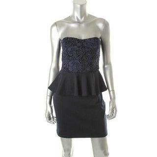 Aqua Womens Knit Strapless Clubwear Dress - XS