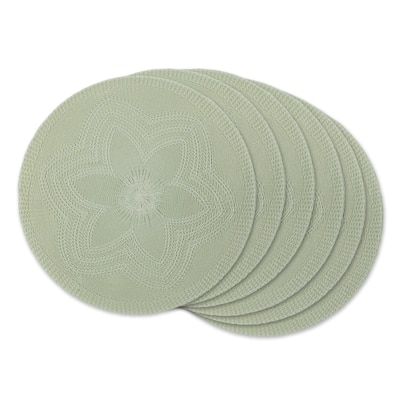 DII Honey Gold Floral Woven Round Placemat (Set of 6)