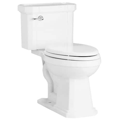 """Mirabelle MIRAM200 Amberley 1.28 GPF Toilet Tank Only with 12"""" Rough In - Left Hand Trip Lever"""