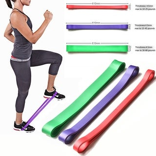 Stretch Exercise Resistance Loop Bands Set of 3 Light Medium Heavy Assisted Pull Up Bands