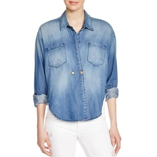 McGuire Womens Denim Shirt Button Long Sleeve