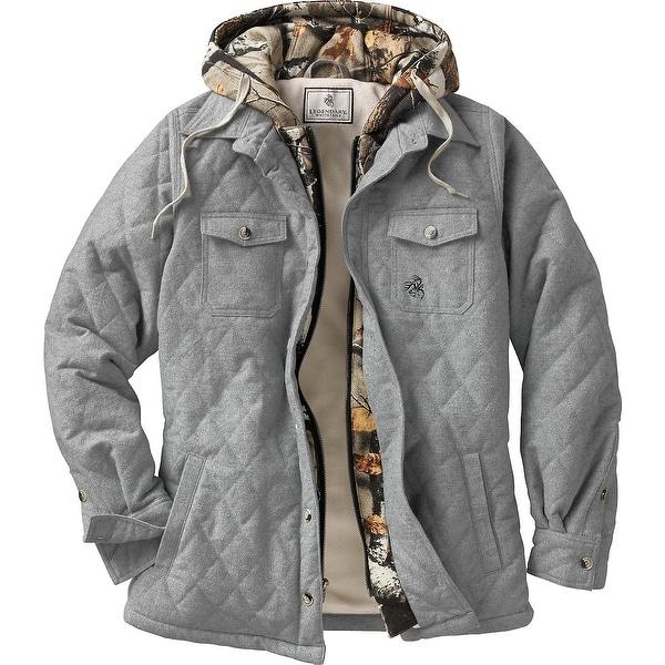 Legendary Whitetails Ladies Voyager Hooded Shirt Jacket - athletic heather