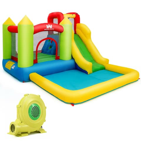 Outdoor Inflatable Bounce House with 480 W Blower - Multi
