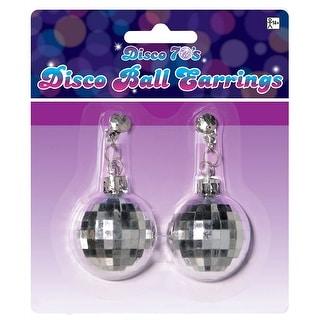 Disco Ball Earrings Adult Costume Accessory