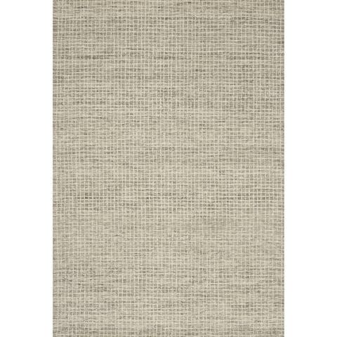 Alexander Home Mosaic Farmhouse Hand-Hooked 100% Wool Rug