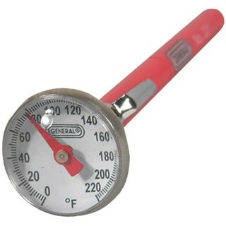 General 321 Analog Thermometer, Stainless Steel