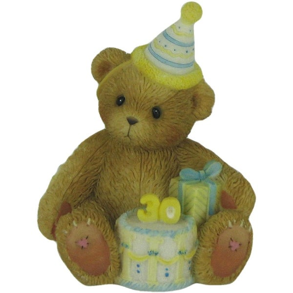 Enesco Cherished Teddies Happy 30th Birthday Figurine