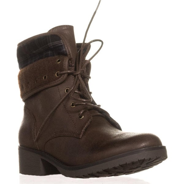 BareTraps Olympia Lace-up Ankle Boots, Dark Brown