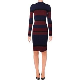BCBGeneration Womens Sweaterdress Striped Knit