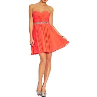 City Studio Womens Juniors Semi-Formal Dress Mini Embellished