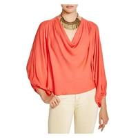 Free People Womens Cowling Around Pullover Top Hi-Low Drapey