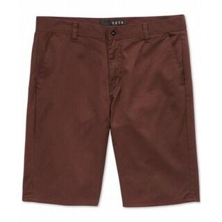 KR3W Denim NEW Oxblood Red Mens Size 32 Solid 'Klassic' Chino Shorts