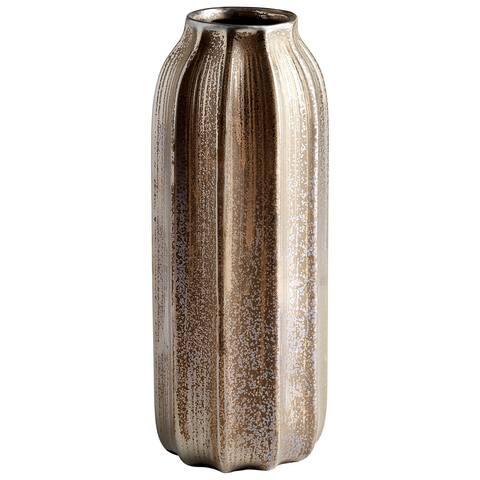 "Cyan Design 09065 Mason 5-1/2"" Diameter Ceramic Vase - Golden Cinder"