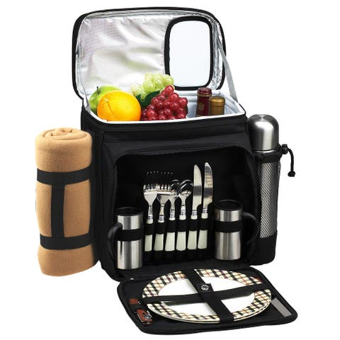 Picnic at Ascot London Picnic Cooler for 2 with Blanket & Coffee Service (526CX-L)