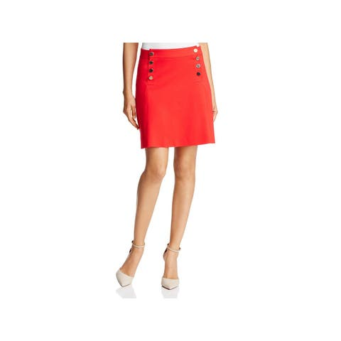 Three Dots Womens A-Line Skirt Ponte Day To Night