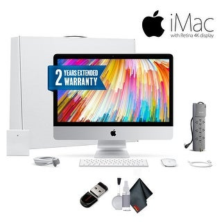 "Apple iMac MNE02LL/A 21.5"", 3.4GHz Intel Core i5, Bundle With Warranty"