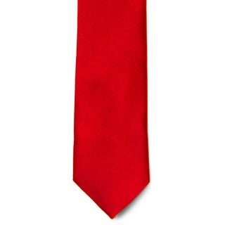 Men's 100% Microfiber Red Tie