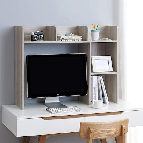Classic Dorm Desk Bookshelf - Natural