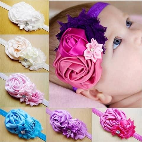 Chiffon Flower Hair Band Lovely Princess Lace Hair Accessories Baby Girls Fashion Headband Headwear Hb22