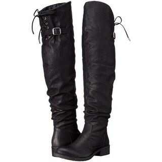 Very Volatile Womens DAJA Closed Toe Over Knee Fashion Boots