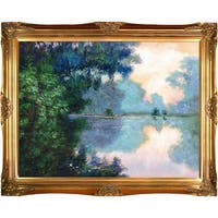 Morning on the Seine near Giverny by Claude Monet Framed Hand Painted Oil on Canvas