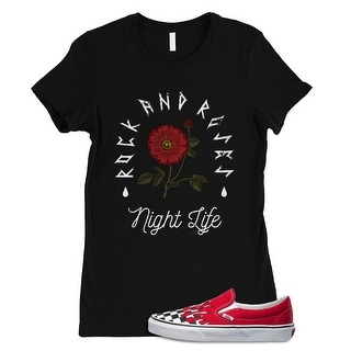 Rock and Roses Night Life Womens Shirt Trendy Streetwear