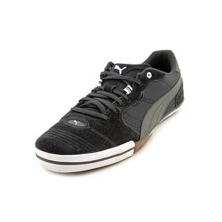 Puma Esito Vulc Sala Men  Round Toe Suede Black Sneakers
