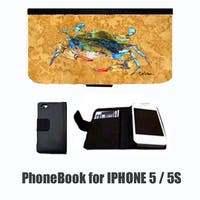 Crab On Gold Cell Phonebook Cell Phone Case Cover For Iphone 5 Or 5S