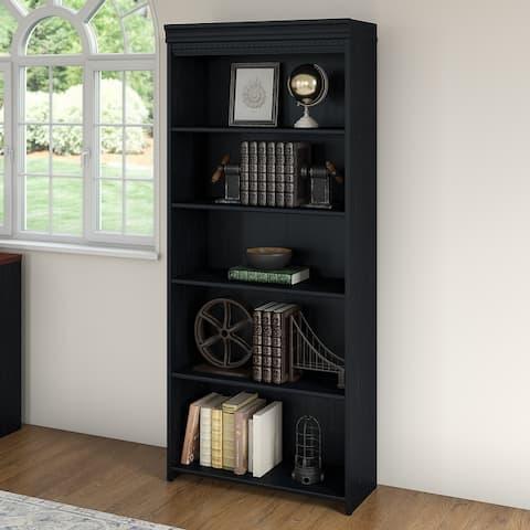 """Copper Grove Khashuri 5-shelf Bookcase - 29.57""""L x 12.09""""W x 68.94""""H - 29.57""""L x 12.09""""W x 68.94""""H"""
