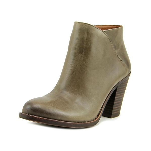 Lucky Brand Eesa Women Round Toe Leather Gray Ankle Boot